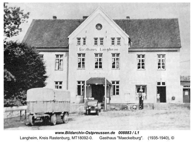 """Langheim, Gasthaus """"Maeckelburg"""""""