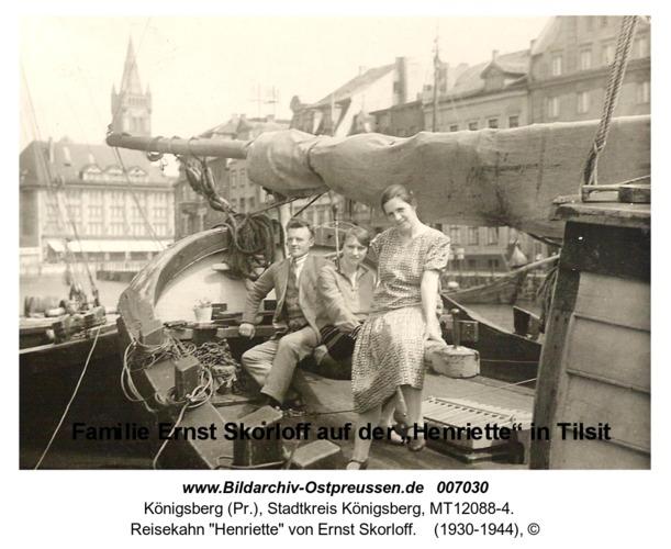 """Königsberg, Reisekahn """"Henriette"""" von Ernst Skorloff"""