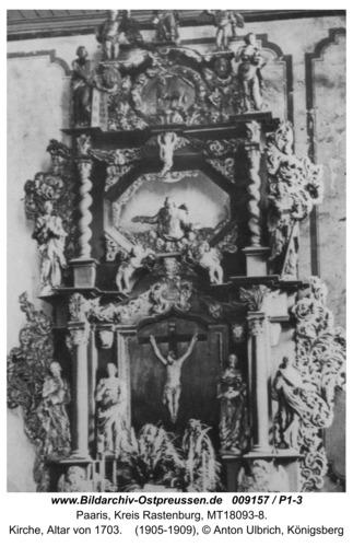 Paaris, Kirche, Altar von 1703