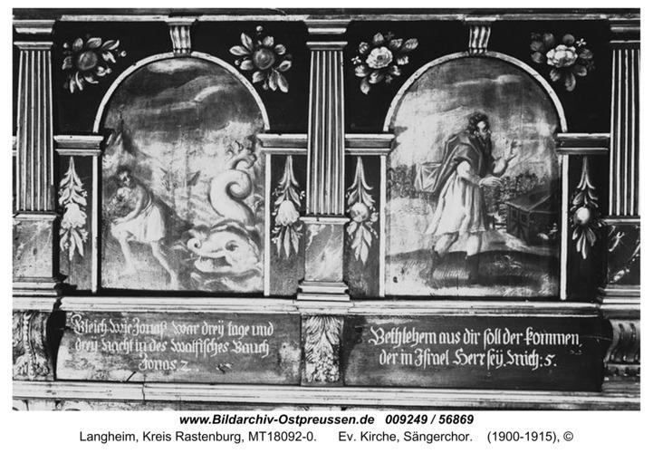 Langheim, Ev. Kirche, Sängerchor