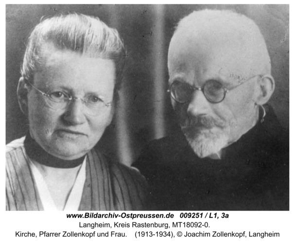 Langheim, Kirche, Pfarrer Zollenkopf und Frau