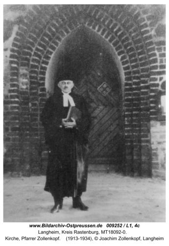 Langheim, Kirche, Pfarrer Zollenkopf