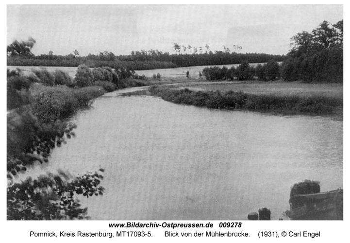 Pomnick, Blick von der Mühlenbrücke
