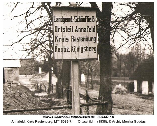 Annafeld, Ortsschild