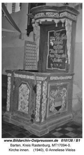 Barten, Kirche innen