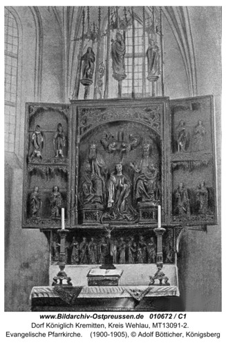Kremitten, Evangelische Pfarrkirche