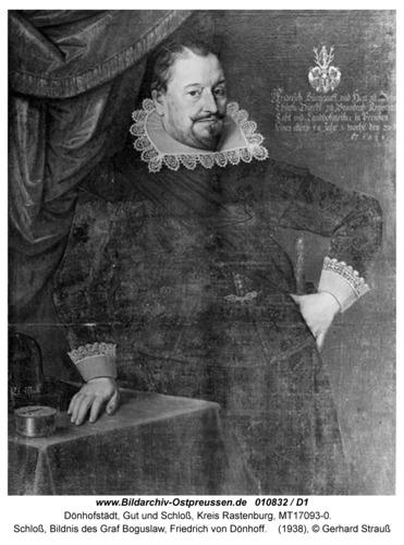 Dönhofstädt, Schloß, Bildnis des Graf Bogislaw Friedrich von Dönhoff