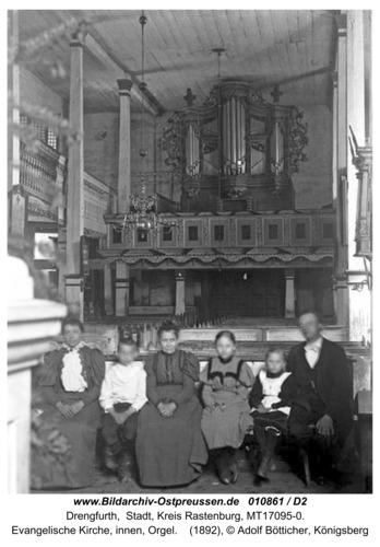 Drengfurth, Evangelische Kirche, innen, Orgel