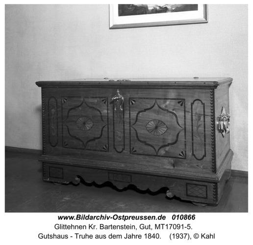 Glittehnen, Gutshaus - Truhe aus dem Jahre 1840