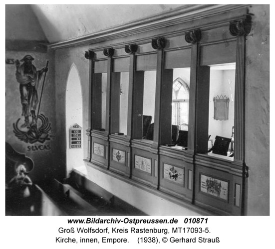 Groß Wolfsdorf, Kirche, innen, Empore