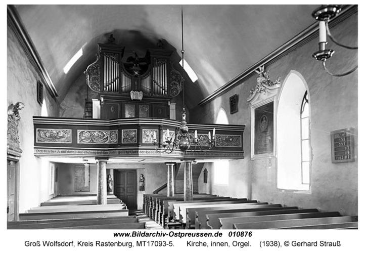 Groß Wolfsdorf, Kirche, innen, Orgel