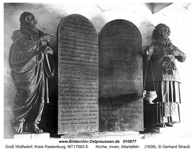 Groß Wolfsdorf, Kirche, innen, Altartafeln