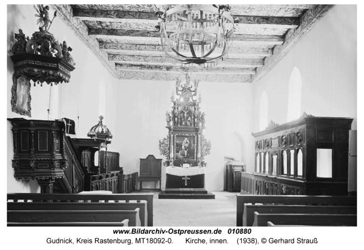 Gudnick, Kirche, innen