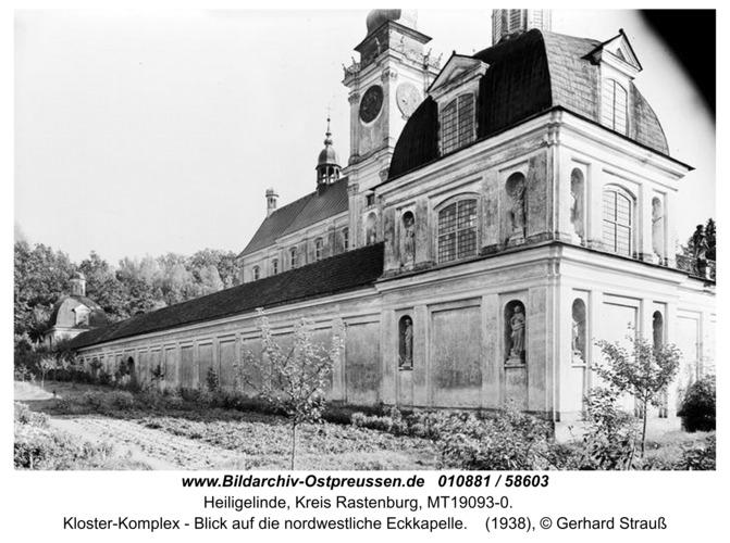 Heiligelinde, Kloster-Komplex - Blick auf die nordwestliche Eckkapelle