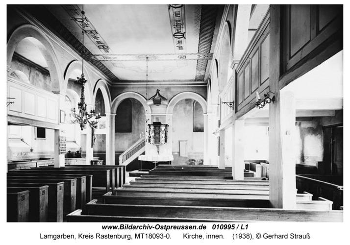 Lamgarben, Kirche, innen