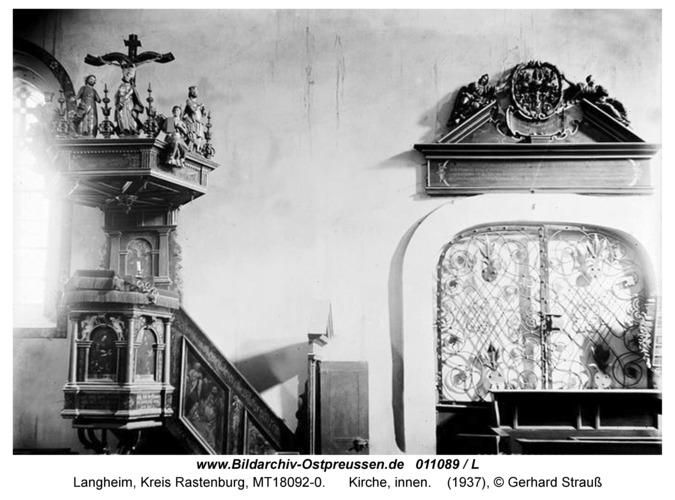 Langheim, Kirche, innen, Kanzel