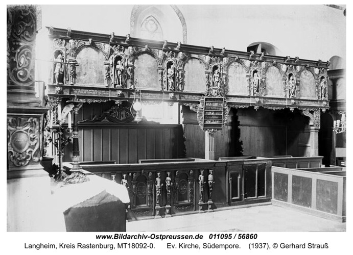 Langheim, Ev. Kirche, Südempore