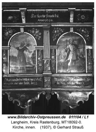 Langheim, Kirche, innen, Empore