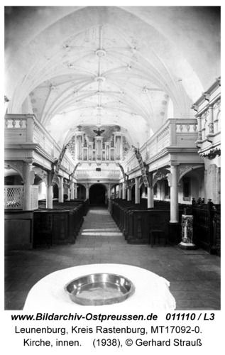 Leunenburg, Kirche, innen, Orgel