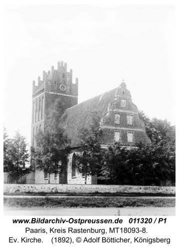 Paaris, Ev. Kirche