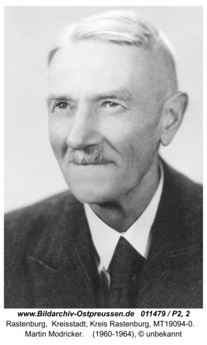 Rastenburg, Martin Modricker