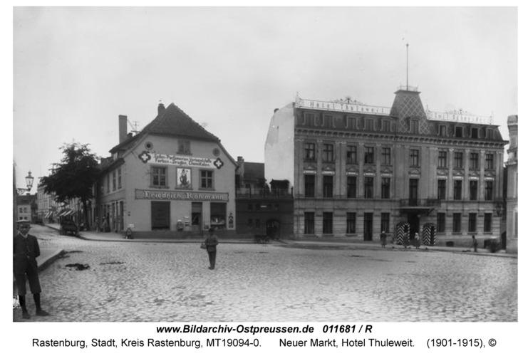 Rastenburg, Neuer Markt, Hotel Thuleweit