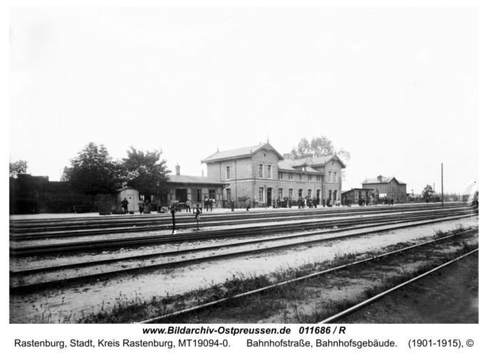 Rastenburg, Bahnhofstraße, Bahnhofsgebäude