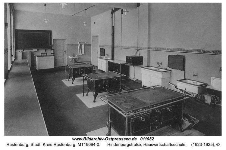 Rastenburg, Hindenburgstraße, Hauswirtschaftsschule