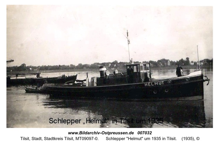 """Schlepper """"Helmut"""" um 1935 in Tilsit"""