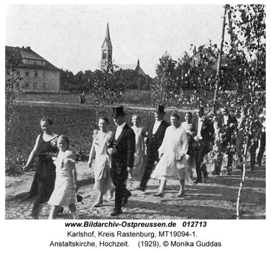 Carlshof, Anstaltskirche, Hochzeit