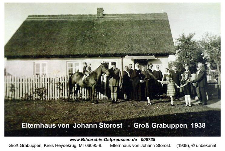 Elternhaus von Johann Storost in Groß Grabuppen 1938