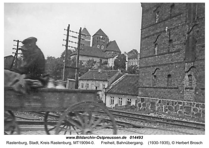 Rastenburg, Freiheit, Bahnübergang