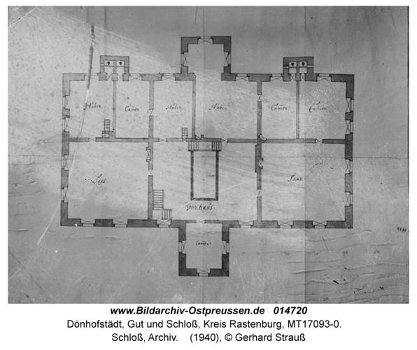 Dönhofstädt, Schloß, Archiv