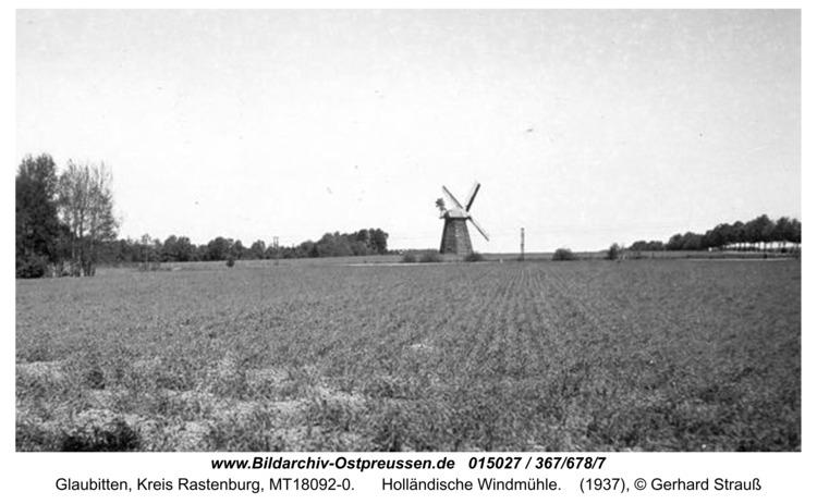 Glaubitten, Holländische Windmühle