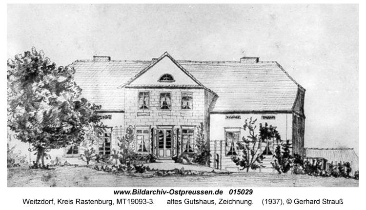 Weitzdorf, altes Gutshaus, Zeichnung