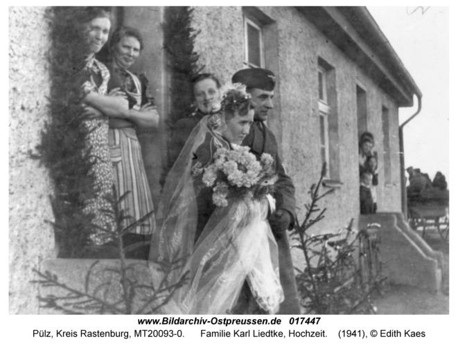 Pülz, Familie Karl Liedtke, Hochzeit