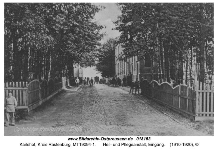 Carlshof, Heil- und Pflegeanstalt, Eingang