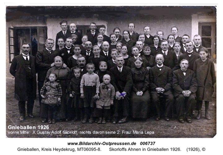 Skorloffs Ahnen in Gnieballen 1926