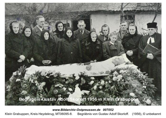 Begräbnis von Gustav Adolf Skorloff 1956 in Klein Grabuppen