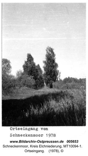Schneckenmoor, Ortseingang
