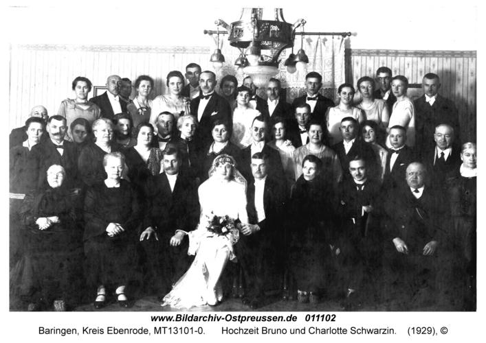 Baringen, Hochzeit Bruno und Charlotte Schwarzin