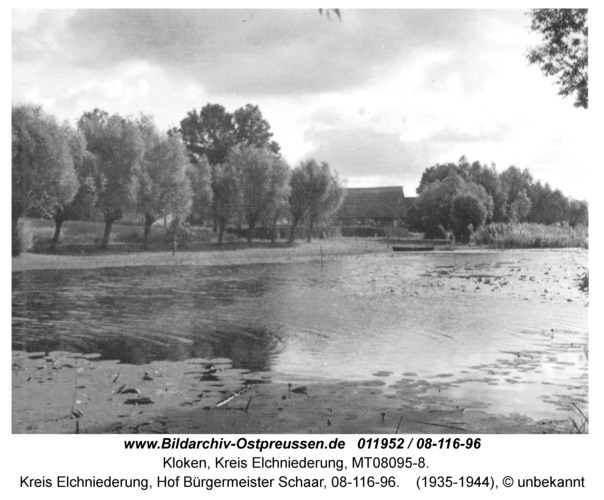 Kloken, Kreis Elchniederung, Hof Bürgermeister Schaar, 08-116-96