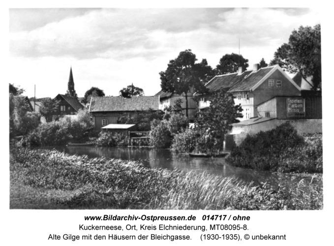 Kuckerneese, Alte Gilge mit den Häusern der Bleichgasse