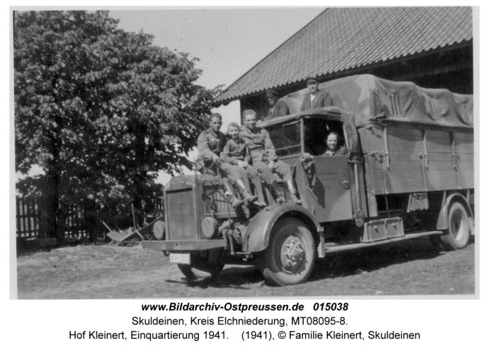 Skuldeinen, Hof Kleinert, Einquartierung 1941
