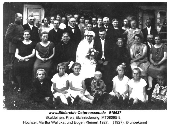 Skuldeinen, Hochzeit Martha Wallukat und Eugen Kleinert 1927