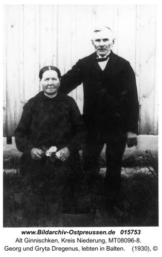 Ginnischken, Georg und Gryta Dregenus, lebten in Balten