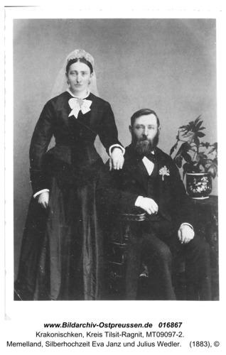 Krakonischken, Memelland, Silberhochzeit Eva Janz und Julius Wedler