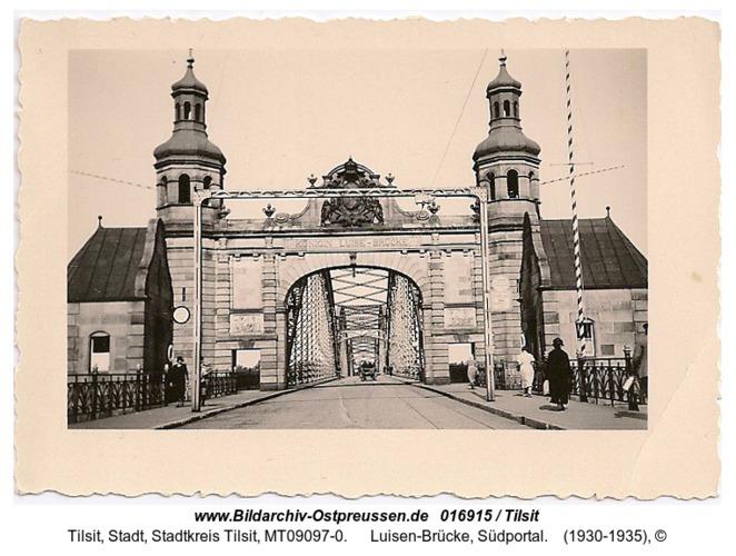 Tilsit, Luisen-Brücke, Südportal