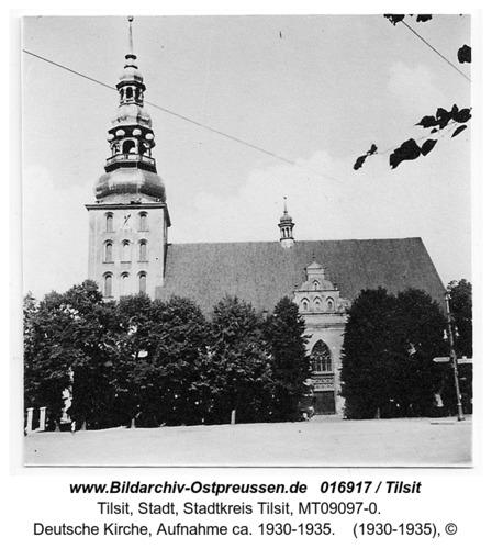 Tilsit, Deutsche Kirche, Aufnahme ca. 1930-1935