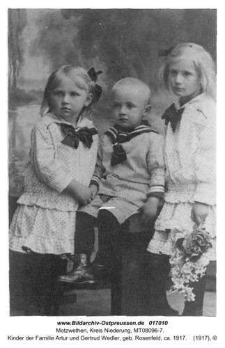 Motzwethen, Kinder der Familie Artur und Gertrud Wedler, geb. Rosenfeld, ca. 1917